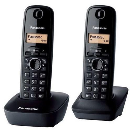 PANASONIC Cordless Phone [KX-TG1612] - Black - Wireless Phone